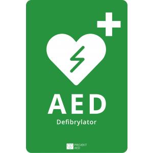 Tablica informacyjna AED