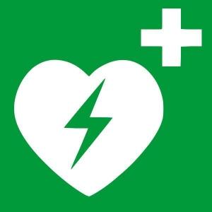 Naklejka na defibrylator AED (A0003)